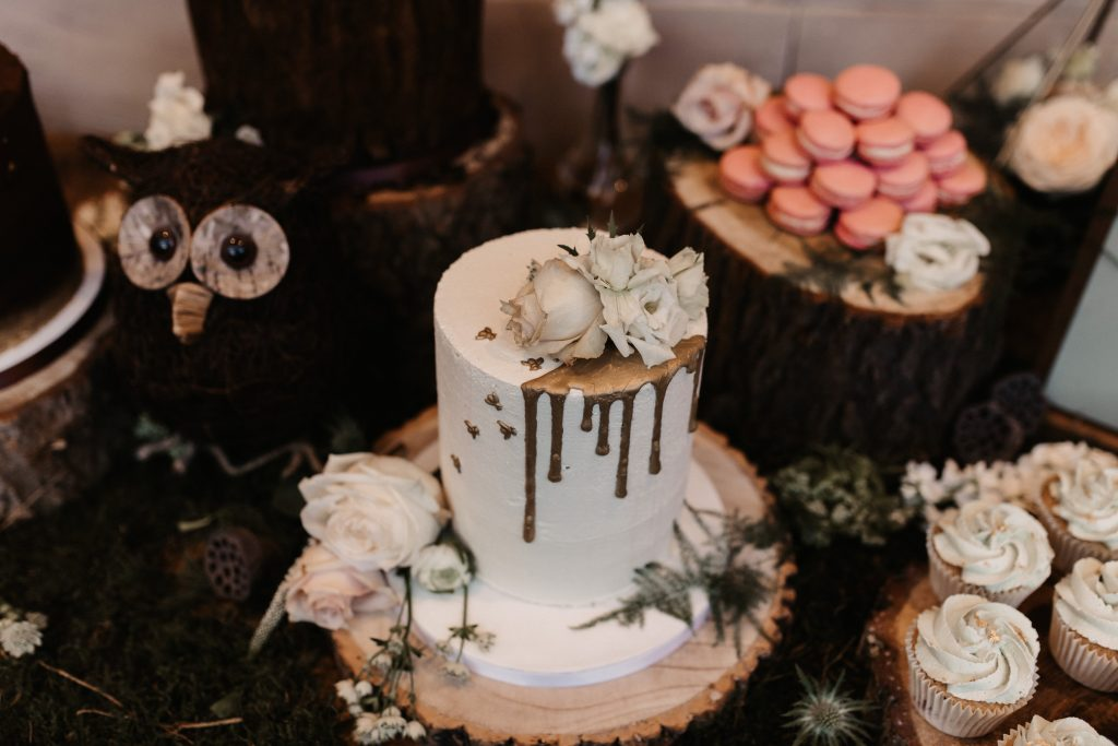 woodland themed dessert table for weddings
